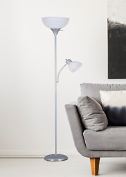 Combo Floor Lamp with Adjustable Reading Lamp 72 IN Bedroom Home Office $21.47