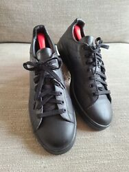 Adidas Stan Smith 2 Triple Black Tennis Shoes Sneakers Size 12 Splatter insole $43.00