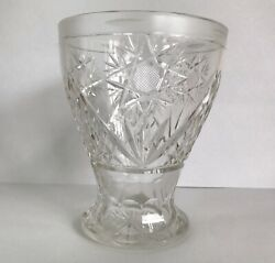 Beautiful Etched Clear Footed Crystal Vase $13.80