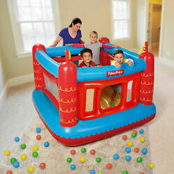 Bounce House Kids Jumping Inflatable Bouncer Indoor Outdoor Fun Play Balls Toy $102.47