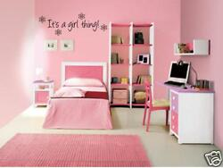 IT#x27;S A GIRL THING Girls Bedroom Wall Art Decal 24quot; $13.99