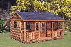 16 x 20 Cabin Shed  Guest House Building Plans #61620