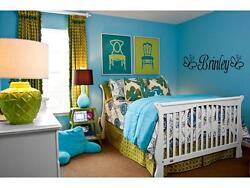 GIRLS NAME BUTTERFLY Fancy Room Wall Decal Sticker 24quot; $9.95