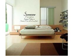SOMEONE I LOVE WITH ALL MY HEART Bedroom Wall Decal Words Lettering Quote 24quot; $13.99