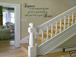 HAPPINESS Home Bedroom Decor Vinyl Wall Art Decal Lettering Words 48quot; $27.98