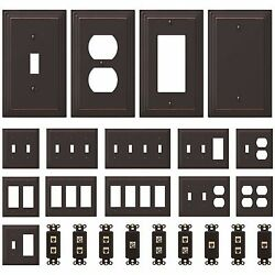 NEW Switch Plate GFI Outlet Cover Wall Rocker Oil Rubbed Bronze Finish $3.79