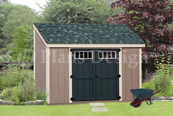 Shed Plans 6' x 10' Deluxe Lean To Roof Style #D0610L Free Material List