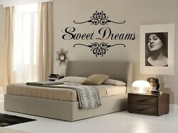 SWEET DREAMS Wall Art Decal Girls Quote Vinyl Home Decor Words Lettering 17x24 $10.95