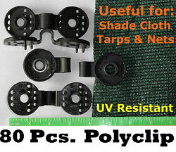 Polyclips 80pcs Instant Adjustable Grommets Tarp Fabric Shade Cloth Poly Clips $39.00