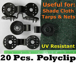 Polyclips 20pcs Instant Adjustable Grommets Tarp Fabric Shade Cloth Poly Clips $14.00