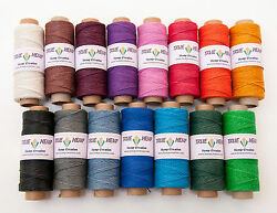 Natural Hemp Twine Cord 20lb 1mm 205feet62m 50gram per Spool - PICK YOUR COLOR