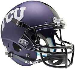 TEXAS CHRISTIAN HORNED FROGS Schutt AiR XP Full-Size REPLICA Football Helmet TCU