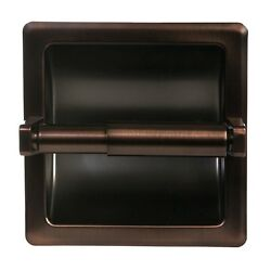 Oil Rubbed Bronze Bathroom Mounted Recessed Toilet Paper Holder Bath Accessory $19.99