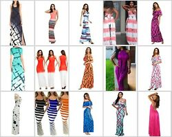 100 long dresses wholesale maxi dress women summer beach casual-US CANADA SELLER