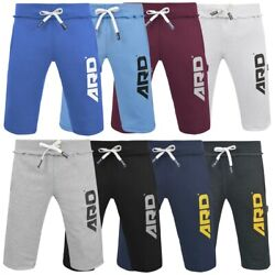 ARD Mens Cotton Fleece Shorts Jogging Casual Home Wear MMA Boxing Martial Art