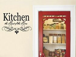 KITCHEN Wall Quote Vinyl Decal Lettering Words Decor Sticky Sticker Dining $12.99