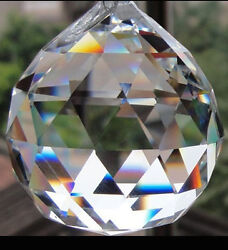 Crystal Prism 20MM 3 4quot; Feng Shui Clear Faceted Chandelier Ball Sun Catcher $4.99