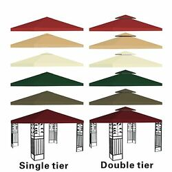 New 10#x27;x10#x27; Replacement Canopy Top Patio Pavilion Gazebo Tent Sunshade Cover UV $51.88