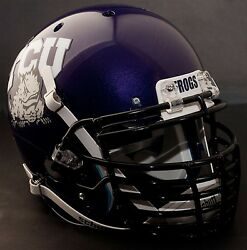 *CUSTOM* TCU HORNED FROGS Schutt AiR XP REPLICA Football Helmet
