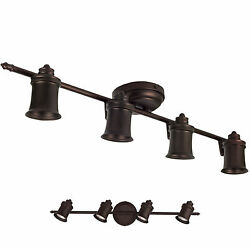 Oil Rubbed Bronze 4 Light Track Lighting Ceiling or Wall Fixture Interior $48.79