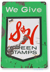 TIN SIGN S amp; H Green Stamps Metal Décor Art Kitchen Store Shop A601 $9.25
