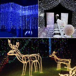 300 2400 LED Fairy String Curtain Light Indoor Outdoor Waterfall Hanging Plug in $20.69