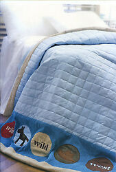 Cute WILD WILD WEST Cowboys Single Size Lightly Quilted COMFORTER + BONUS NEW