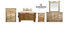 Queen Size Real Wood Promo Mansion Set Western Rustic Master Guest Bedroom