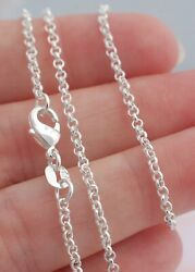 2mm ROLO Chain Necklace 925 Sterling Silver Jewelry 16 18 20 22 24 26 28 30 inch