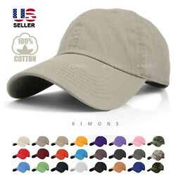Cotton Cap Baseball Caps Hat Adjustable Polo Style Washed Plain Solid Visor Dad