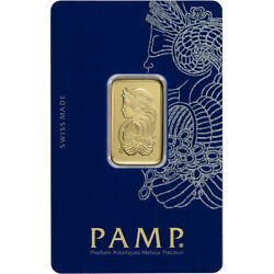 10 gram Gold Bar PAMP Suisse Fortuna 999.9 Fine in Sealed Assay $665.19