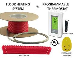 Electric Tile Radiant Warm Floor Heat Heated Kit 120V All Sizes Availible $116.10