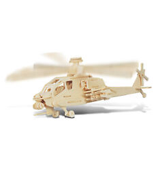 Smilelove 3D Wooden Puzzle Helicopter Apache Jigsaw Puzzle $12.11