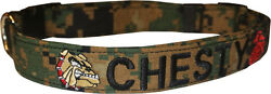 MARINES USMC Dog Collars Personalized Embroidered customized for your Pet $35.99