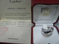 Cartier Nouvelle Vouge Crossover Diamond Ring in White Gold