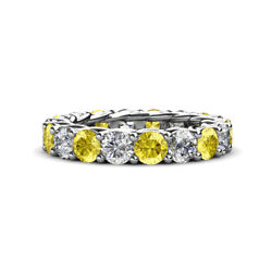 Sapphire and Diamond Womens Eternity Ring Stackable 4.61 ctw* 14K Gold JP:29336