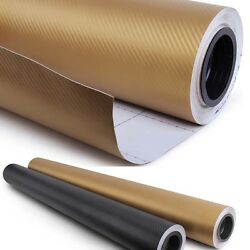 92ft x 5ft GOLD Carbon Fiber Vinyl Film 3D Bubble Free Air Release 1104