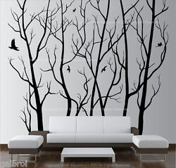 Large Wall Art Decor Vinyl Tree Forest Decal Sticker choose size and color $54.99