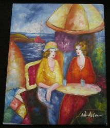 Oil on Canvas Tea Parisienne Cafe She Shed