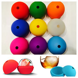 2.5quot; DIY Whiskey Ice Cube Silicon Ball Maker Mold Sphere Party Mould Brick Round $6.25