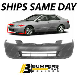 NEW Primered Front Bumper Fascia for 2003 2004 2005 Honda Accord Sedan HO1000210 $74.70