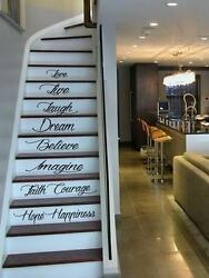 Live Hope Laugh Stairs Wall Quote Decal Sticker Decal Vinyl Art Home Decor $11.99
