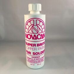 Novacan Super Brite Copper Patina for solder 8 Oz stained glass supplies