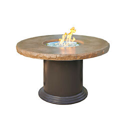 Outdoor Greatroom Colonial Dining Height Fire Pit Table Mocha New