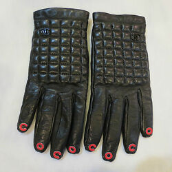 VERY RARE! AUTHENTIC CHANEL BLACK QUILTED LEATHER CASHMERE