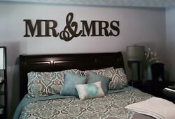 MR amp; MRS Wood Letters Wall Décor Painted Wood Letters Wall Letters Queen Size $75.00