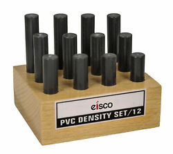 Eisco Labs PVC Density Set 12 Rods Varying Length with Holder