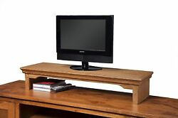 TV Riser Stand Traditional Desk Organizer Storage Box For Computer Laptop $199.99