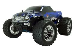 1:10 Volcano S30 RC Nitro Monster Truck 4WD Off Road 2.4GHz Blue New $279.99