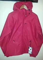 ADDICT BASE JACKET EMBOSS SHE FLAME REDLHOODED